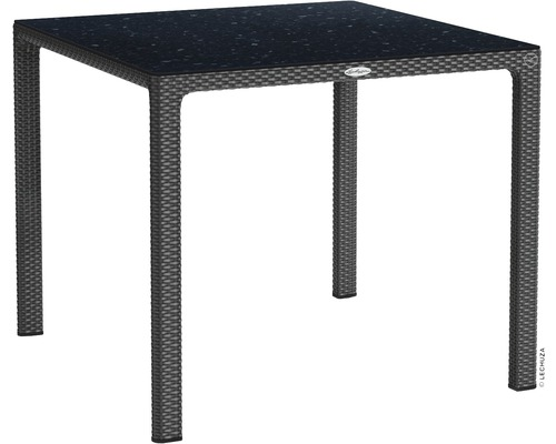 Lechuza Gartentisch Kunststoff 90 X 90 Cm Granit Mit Hpl Tischplatte Bei Hornbach Kaufen