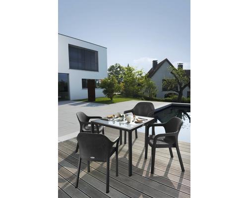 Lechuza Gartentisch Kunststoff 90 X 90 Cm Granit Bei Hornbach Kaufen