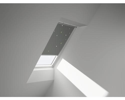 VELUX Verdunkelungsrollo Sterne grau manuell DKL F08 4665SWL