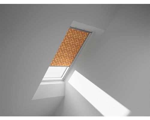 VELUX Verdunkelungsrollo gemustert orange manuell DKL UK10 4568SWL