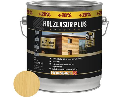 Holzlasur Plus farblos 3 l (20 % Gratis!)