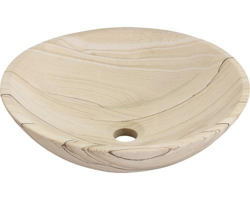 Aufsatzwaschbecken Sandstone 40 cm Naturstein Sandstein