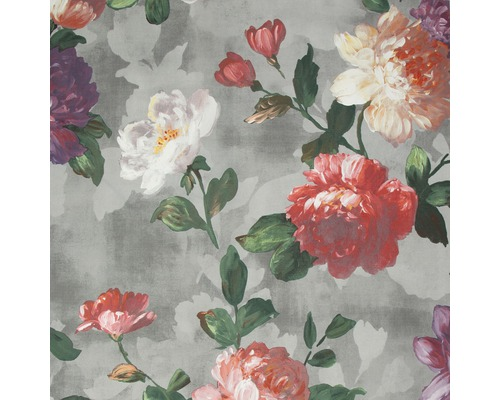 Vliestapete 108606 Prestige Blumen Grau