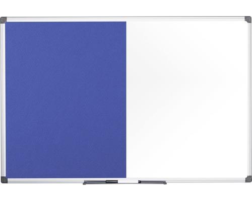 Kombitafel Filz- und Magnettafel weiß blau 180x90 cm