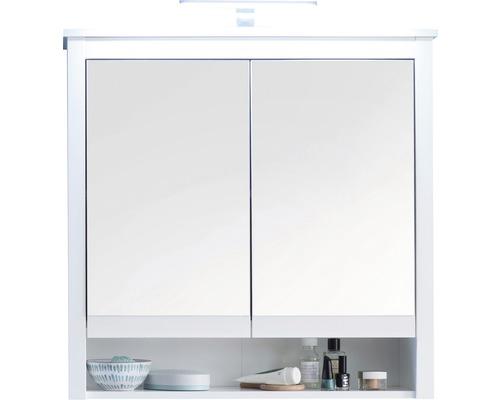 Spiegelschrank Ole 2 türig 81 cm weiß mit Beleuchtung bei HORNBACH kaufen
