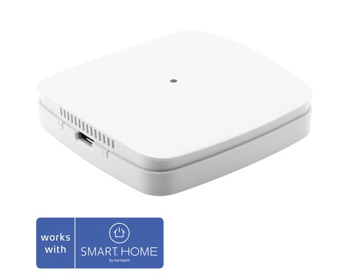 Eurotronic Luftgütesensor, VOC-, Temperatur & Luftfeuchte- (Taupunkt) Sensor 68 x 68 x 17 mm weiß - Kompatibel mit SMART HOME by hornbach
