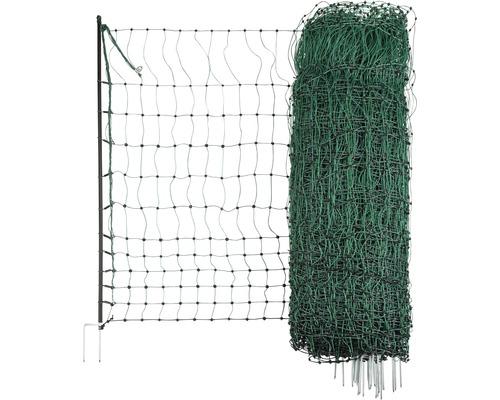 Geflügelnetz, Doppelspitze elektrisch leitend 1500 x 112 cm grün