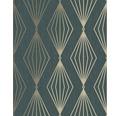 Vliestapete 111313 Jewel Marquise Geometrisch grün