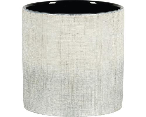 Übertopf Nisa Ø 13,5cm H 13 cm Keramik silber