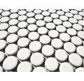 Keramikmosaik Knopf uni weiß matt 30,5 x 32 cm