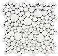 Keramikmosaik XKM 100N Kiesel 27,5 x 27,5 cm uni weiß glänzend