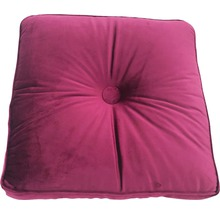 Sitzkissen mit Knopf lila 40x40 cm