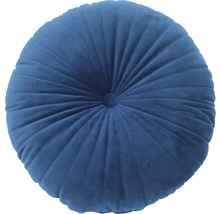 Kissen Velvet rund blau Ø 43 cm