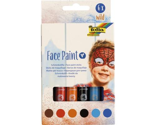 Face Paint Set wild, 6 Stifte
