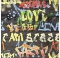 Papiertapete 103032 Kids@Home Graffiti Schwarz