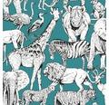 Vliestapete 107692 Kids@Home Jungle Animals
