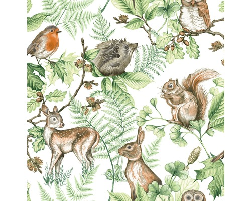 Vliestapete 108569 Kids@Home Woodland Animals