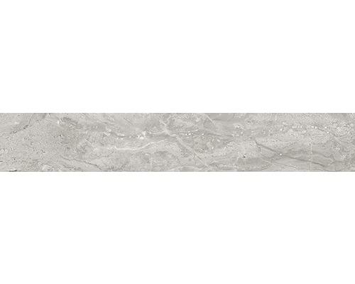 Sockel Sicilia Grigio poliert grau 10x60 cm