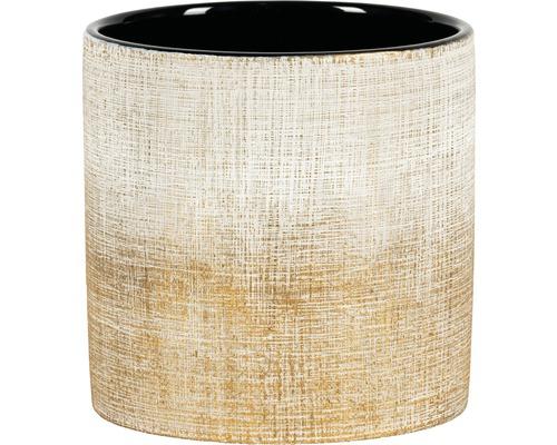 Übertopf Nisa Ø 13,5cm H 13 cm Keramik bronze