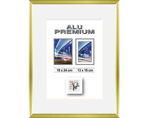 Bilderrahmen Alu Duo gold matt 18x24 cm