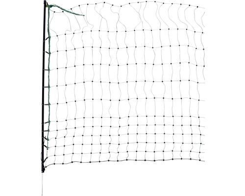 Geflügelnetz Einzelspitze elektrifizierbar 25 m x 112 cm grün