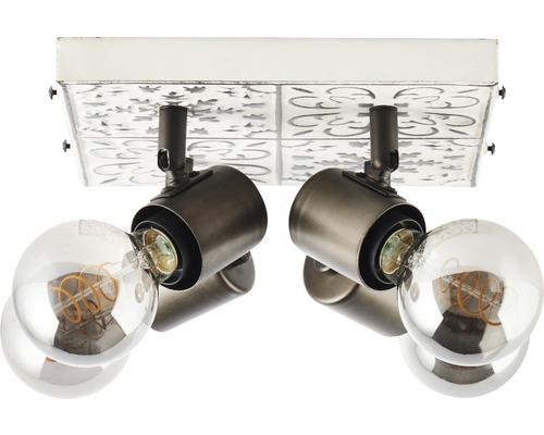 Deckenleuchte Metall 4-flammig HxLxB 200x350x350 mm Vagos creme