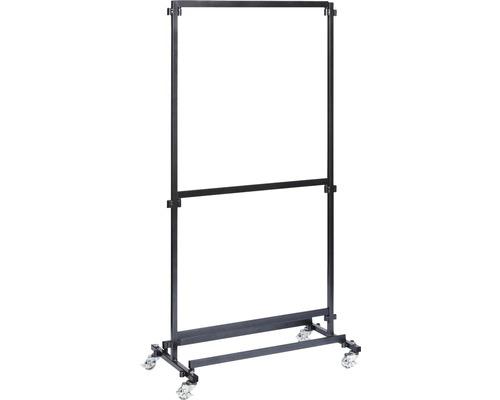 Veba Garderobenständer ohne Haken 100 cm Metall schwarz