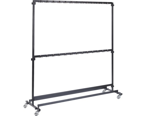 Garderobenständer VEBA mit Haken 200 cm Metall schwarz