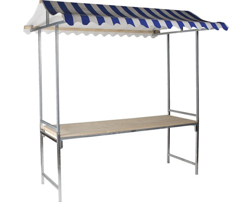 Marktstand VEBA Professional 1,44 m² 215 x 70 cm blau weiß