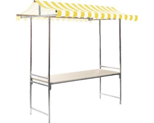 Marktstand VEBA Professional 1,44 m² 215 x 70 cm gelb weiß
