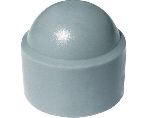 Sechskantschutzkappe rund Ø 8 mm grau, 50 Stück