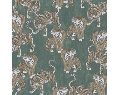 Vliestapete 84872 Memento Tiger grün