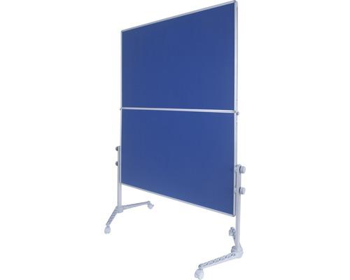 Moderationswand blau mit Rollen 120x150 cm