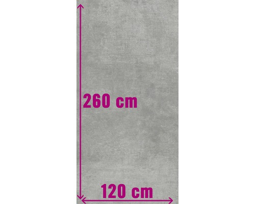 XXL Feinsteinzeug Wand- und Bodenfliese Industrial Steel anpoliert 120 x 260 cm
