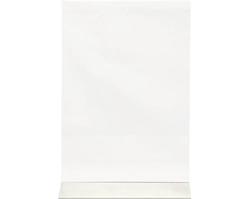 Aufsteller transparent DIN A4 mit Edelstahlfuß