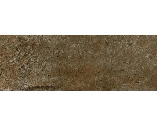 Steingut Wandfliese Downtown Copper 25x70 cm Metalloptik