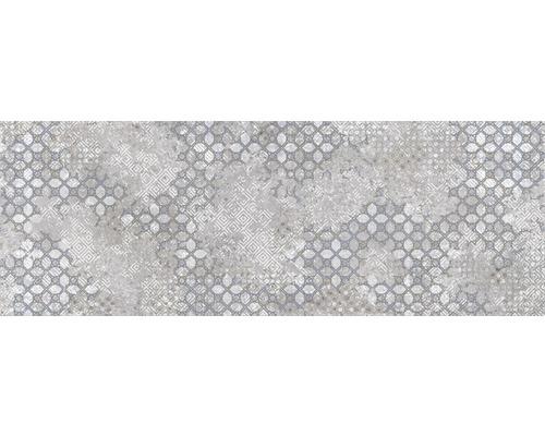 Steingut Dekorfliese Downtown Steel 25 x 70 cm