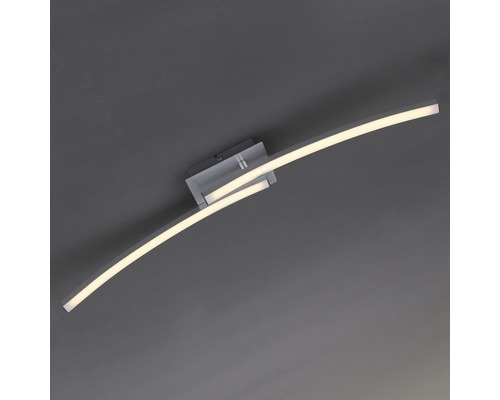 LED Deckenleuchte 2x6W 480 lm 3000 K warmweiß LxBxH 635x100x85 mm Go alu-weiß 2-flammig