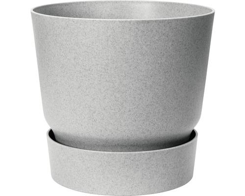 Blumentopf elho greenville rund Ø 29,5 cm H 27,8 cm Kunststoff grau