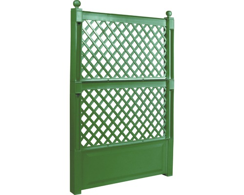 KHW Rankgitter 100 cm x 140 cm Kunststoff grün inkl. Erdspießen 2 Stk
