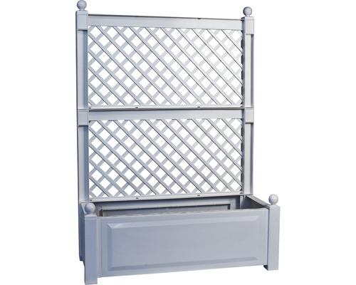 KHW Pflanzkasten 140 x 100 x 43 cm Kunststoff grau inkl. Spalier 2 Stk