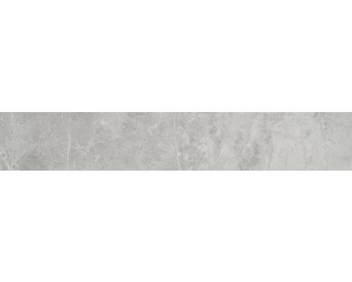 Sockel Discreet Gris poliert und rektifiziert 10 x 60 cm