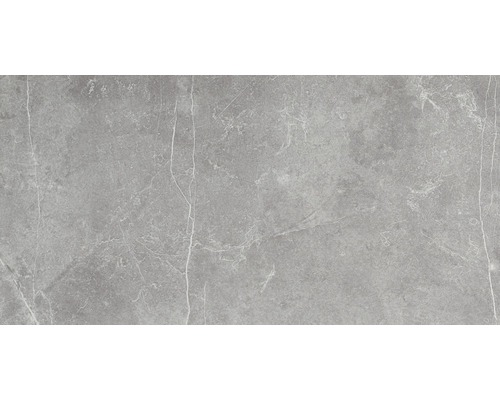Feinsteinzeug Wand- und Bodenfliese Discreet gris poliert und rektifiziert 60 x 120 cm