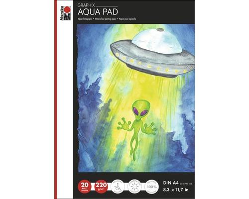 Marabu Aqua Pad GRAPHIX, DIN A4, 220g/m², 20 Blätter
