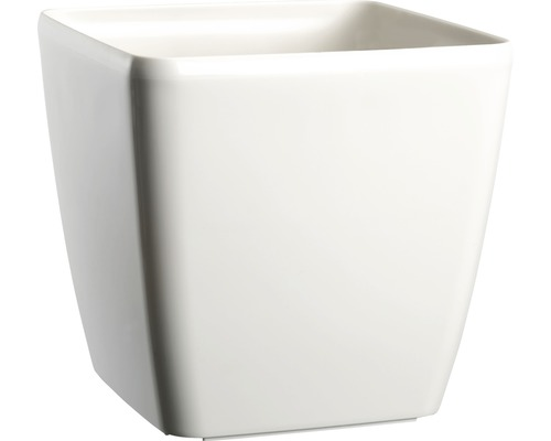 Blumentopf Lafiora Quadrato Kunststoff 18 x 18 x 17 cm weiß