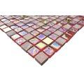 Glasmosaik Quadrat mix rot/rosa/gold 30,5 x 32,2 cm