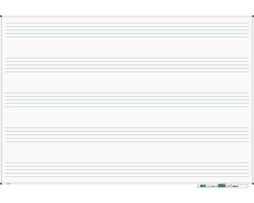 Whiteboard Premium Notenlinien 100x150cm