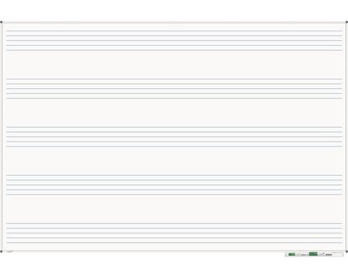 Whiteboard Premium Notenlinien 120x180cm