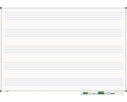 Whiteboard Premium Notenlinien 60x90cm