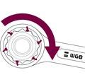 Ringmaulschlüssel WGB, Ringseite gekröpft, 6 mm